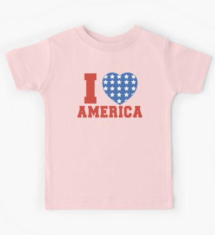 I Heart America Flag Kids Tee