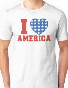 I Heart America Flag Unisex T-Shirt
