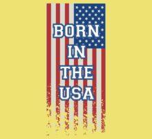 Born In The USA Flag Kids Tee