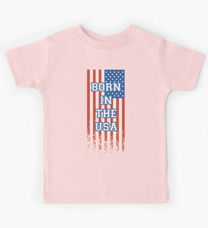 Born In The USA Flag Kids Tee