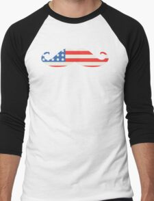 USA Flag Moustache T-Shirt