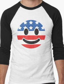 USA Smiley Face Men's Baseball ¾ T-Shirt