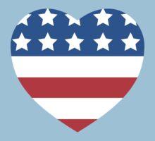 USA Heart Flag Kids Clothes