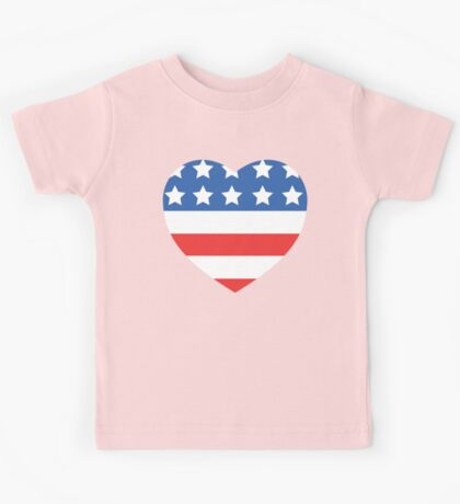 USA Heart Flag Kids Tee