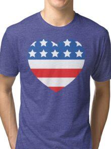 USA Heart Flag Tri-blend T-Shirt
