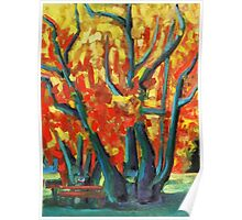 Fauvist Tree Poster