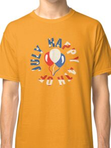 Happy 4th Of July Balloons Classic T-Shirt