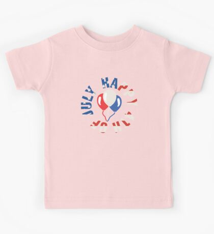 Happy 4th Of July Balloons Kids Tee