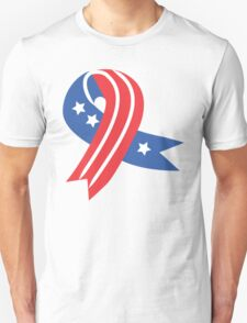 USA Ribbon 4th of July T-Shirt
