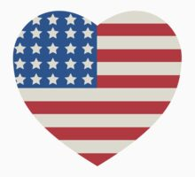 America Flag Heart 4th Of July Kids Clothes