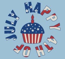 Happy 4th Of July Cupcake Kids Clothes