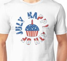 Happy 4th Of July Cupcake Unisex T-Shirt