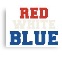 Red, White & Blue USA Canvas Print