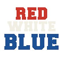 Red, White & Blue USA Photographic Print
