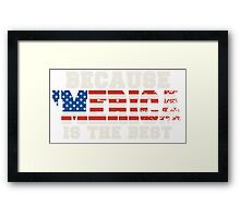 Because 'Merica Is The Best Framed Print