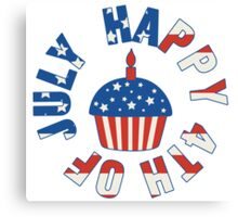 Happy 4th Of July Cupcake Canvas Print