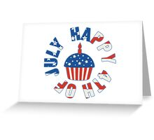 Happy 4th Of July Cupcake Greeting Card