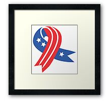 USA Ribbon 4th of July Framed Print