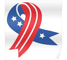 USA Ribbon 4th of July Poster