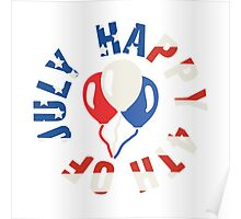 Happy 4th Of July Balloons Poster