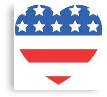 USA Heart Flag Canvas Print