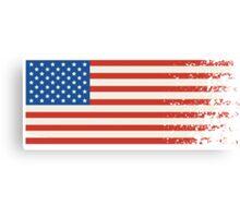 America Graffiti Flag Canvas Print