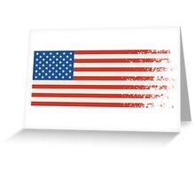 America Graffiti Flag Greeting Card