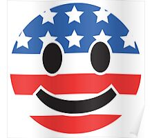 USA Smiley Face Poster