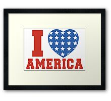 I Heart America Flag Framed Print