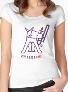 Give A Dog A Bone Women's Fitted Scoop T-Shirt