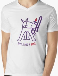 Give A Dog A Bone Mens V-Neck T-Shirt