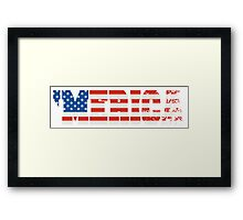 'Merica Flag Framed Print