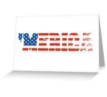 'Merica Flag Greeting Card