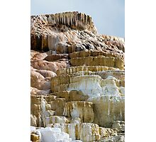 Mammoth Springs Teeth Photographic Print