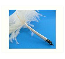 Ostrich quill pen Art Print