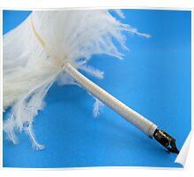 Ostrich quill pen Poster