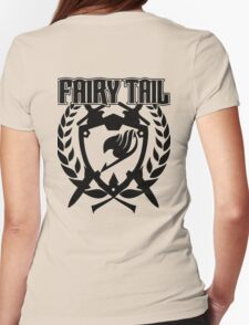 Fairy Tail Emblem (Black) Womens Fitted T-Shirt