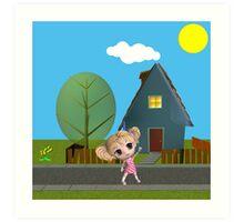 Chibi Girl Art Print