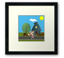 Chibi Girl Framed Print