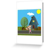 Chibi Girl Greeting Card