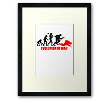Evolution of Man Krieg Tot War Krieger Dumm Framed Print