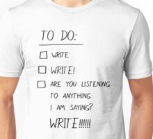 To Do List for Writers Unisex T-Shirt