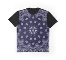 Bandana Navy Blue  Graphic T-Shirt