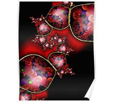Red Printed Beads Passion Poster