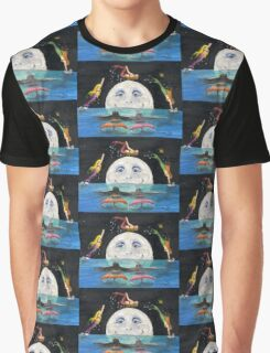 Mermaids Jumping Over Moon Cathy Peek Fantasy Graphic T-Shirt