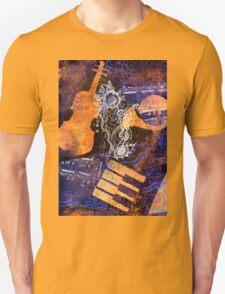 Musical Memories 4 Faux Chine Colle Print Digitized  Unisex T-Shirt
