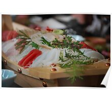 She Sells Sashimi by the Seashore Poster