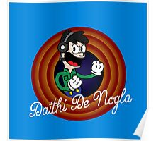 Daithi De Nogla 1930's Cartoon Character Poster