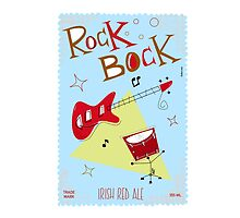 rock bock beer label by Marcelo Badari