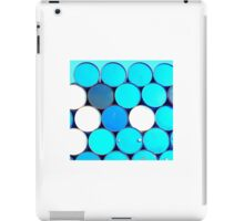 Blue and White Circles iPad Case/Skin